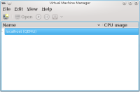 virt-manager Main window
